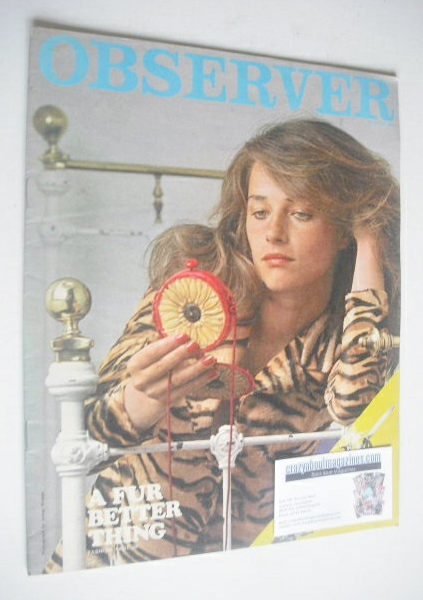 <!--1971-07-25-->The Observer magazine - Charlotte Rampling cover (25 July