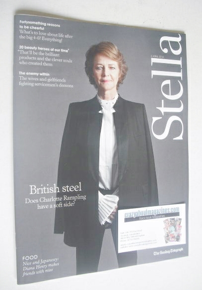 <!--2014-04-06-->Stella magazine - Charlotte Rampling cover (6 April 2014)