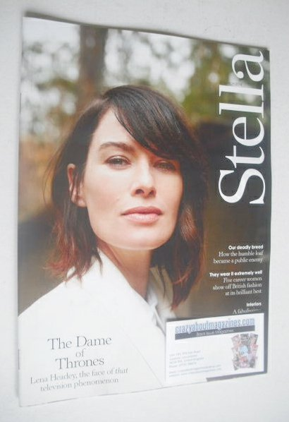 <!--2014-03-23-->Stella magazine - Lena Headey cover (23 March 2014)