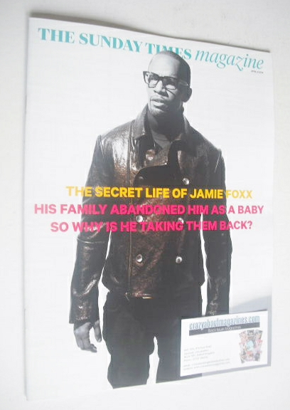 <!--2014-04-06-->The Sunday Times magazine - Jamie Foxx cover (6 April 2014