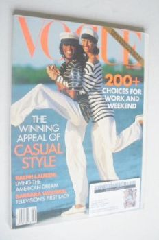 US Vogue magazine - February 1992 - Christy Turlington and Naomi Campbell cover