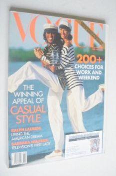 US Vogue magazine - February 1992 - Christy Turlington and Naomi Campbell cover