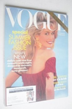 US Vogue magazine - June 1992 - Claudia Schiffer cover
