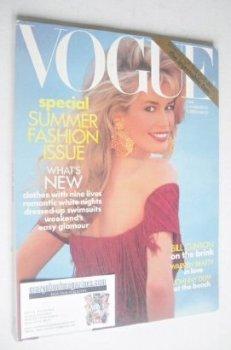 US Vogue magazine - June 1992 - Claudia Schiffer cover