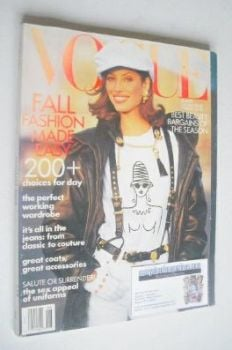 US Vogue magazine - August 1992 - Christy Turlington cover