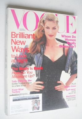 <!--1994-11-->US Vogue magazine - November 1994 - Cindy Crawford cover