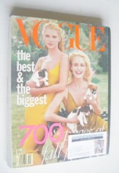 US Vogue magazine - September 1996 - Kate Moss and Amber Valletta cover