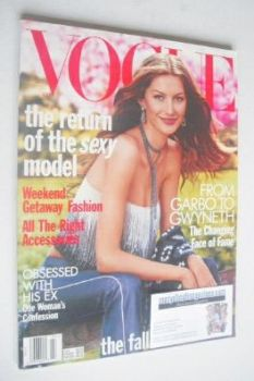 US Vogue magazine - July 1999 - Gisele Bundchen cover