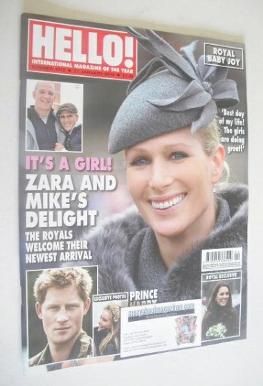 <!--2014-01-27-->Hello! magazine - Zara Phillips cover (27 January 2014 - I