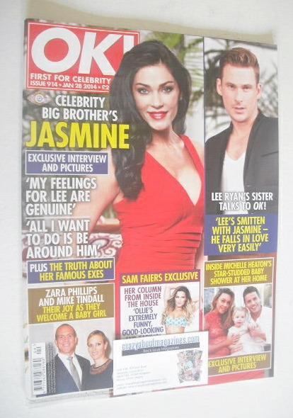 <!--2014-01-28-->OK! magazine - Jasmine Waltz cover (28 January 2014 - Issu