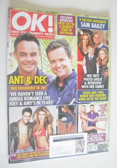 <!--2013-12-03-->OK! magazine - Ant & Dec cover (3 December 2013 - Issue 90