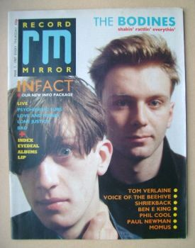 Record Mirror magazine - The Bodines cover (7 March 1987)