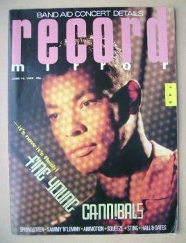 Record Mirror magazine - Roland Gift cover (15 June 1985)