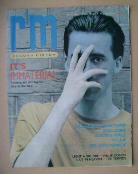 Record Mirror magazine - 26 July 1986