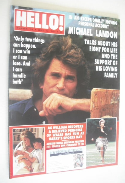 <!--1991-06-22-->Hello! magazine - Michael Landon cover (22 June 1991 - Iss