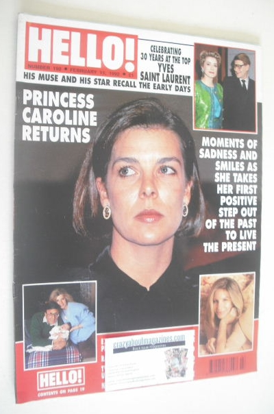 <!--1992-02-15-->Hello! magazine - Princess Caroline cover (15 February 199