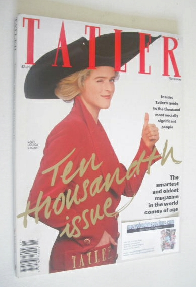 <!--1992-11-->Tatler magazine - November 1992 - Lady Louisa Stuart cover