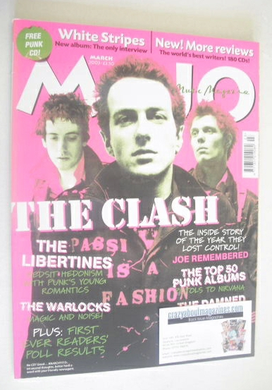 <!--2003-03-->MOJO magazine - The Clash cover (March 2003 - Issue 112)