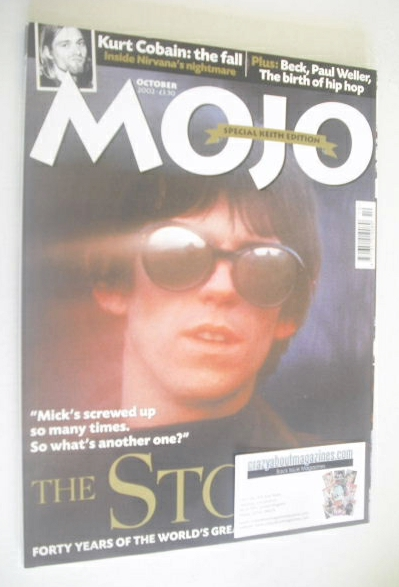 <!--2002-10-->MOJO magazine - Keith Richards cover (October 2002 - Issue 10