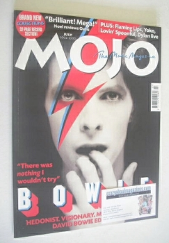 MOJO magazine - David Bowie cover (July 2002 - Issue 104)