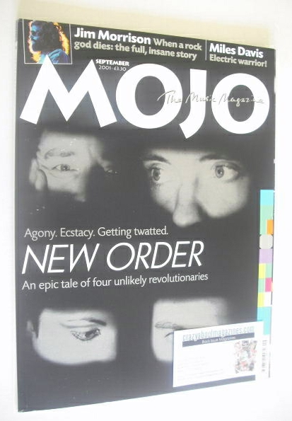 <!--2001-09-->MOJO magazine - New Order cover (September 2001 - Issue 94)