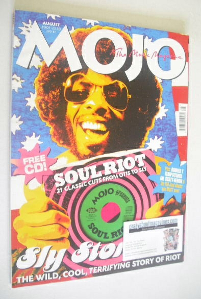 <!--2001-08-->MOJO magazine - Sly Stone cover (August 2001 - Issue 93)