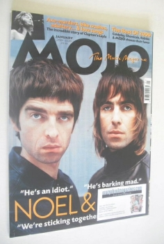 MOJO magazine - Liam Gallagher and Noel Gallagher cover (January 2001 - Issue 86)