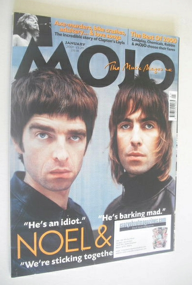 <!--2001-01-->MOJO magazine - Liam Gallagher and Noel Gallagher cover (Janu