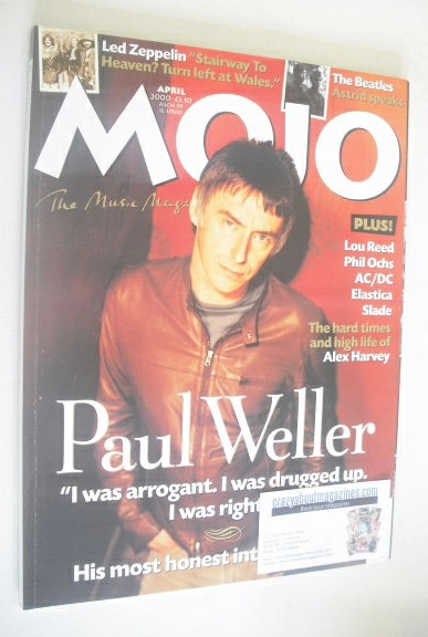 <!--2000-04-->MOJO magazine - Paul Weller cover (April 2000 - Issue 77)