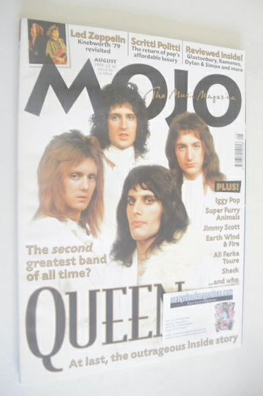 <!--1999-08-->MOJO magazine - Queen cover (August 1999 - Issue 69)