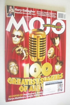 MOJO magazine - The 100 Greatest Singers Of All Time cover (October 1998 - Issue 59)