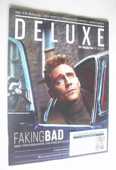 <!--2013-10-18-->Deluxe magazine - Tom Hiddleston cover (18 October 2013)