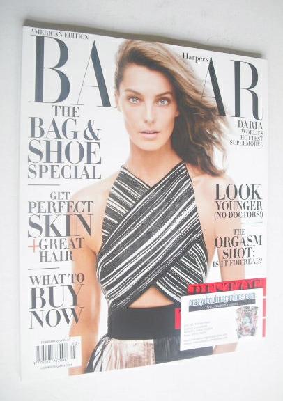 <!--2014-02-->Harper's Bazaar magazine - February 2014 - Daria Werbowy cove
