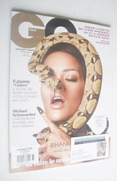 <!--2014-02-->Italy GQ magazine - February 2014 - Rihanna cover
