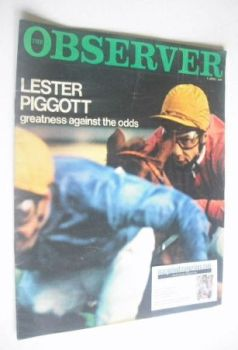 The Observer magazine - Lester Piggott cover (9 April 1967)