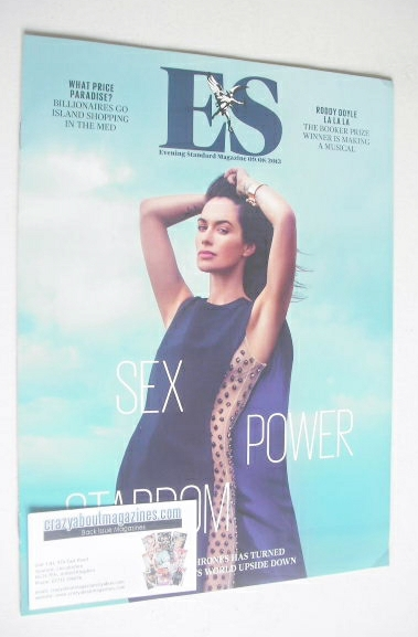 <!--2013-08-09-->Evening Standard magazine - Lena Headey cover (9 August 20