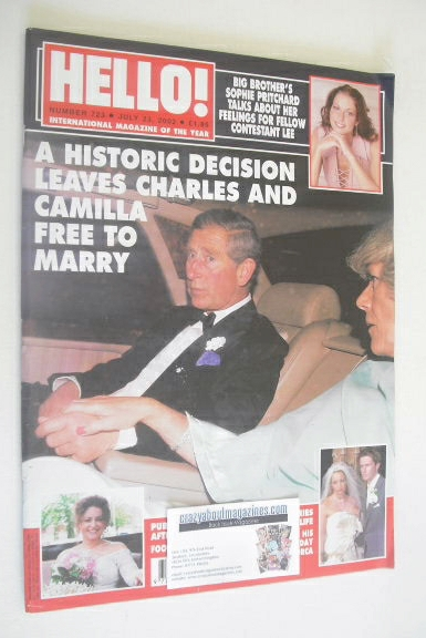 <!--2002-07-23-->Hello! magazine - Prince Charles and Camilla cover (23 Jul
