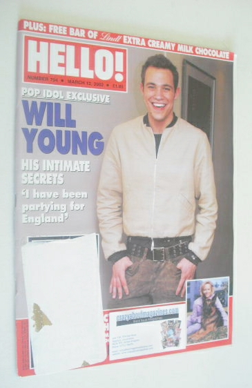 <!--2002-03-12-->Hello! magazine - Will Young cover (12 March 2002 - Issue
