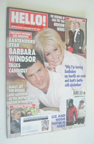 <!--2003-01-14-->Hello! magazine - Barbara Windsor cover (14 January 2003 -