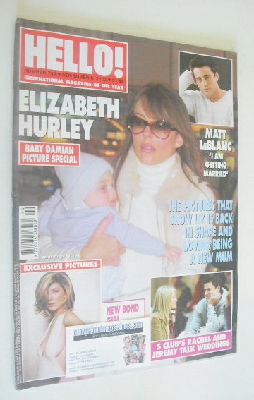 <!--2002-11-05-->Hello! magazine - Elizabeth Hurley cover (5 November 2002
