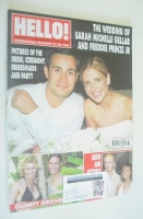 <!--2002-09-17-->Hello! magazine - Sarah Michelle Gellar and Freddie Prinze Jr wedding cover (17 September 2002 - Issue 731)