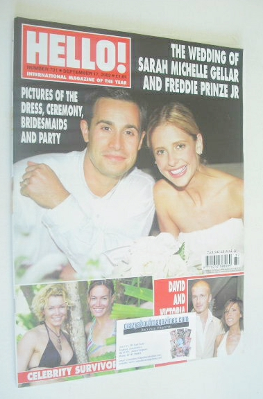 <!--2002-09-17-->Hello! magazine - Sarah Michelle Gellar and Freddie Prinze