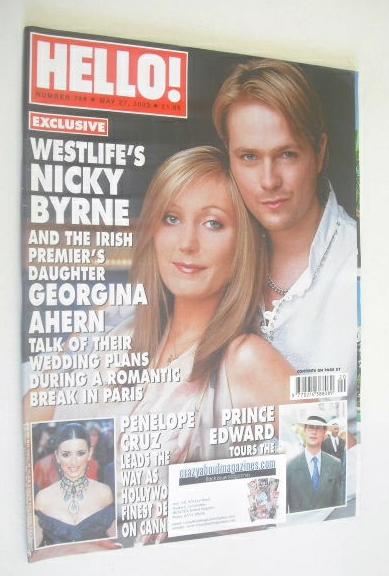 <!--2003-05-27-->Hello! magazine - Nicky Byrne and Georgina Ahern cover (27