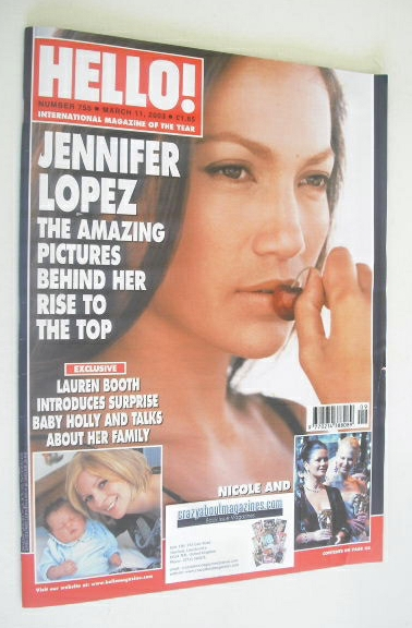 <!--2003-03-11-->Hello! magazine - Jennifer Lopez cover (11 March 2003 - Is