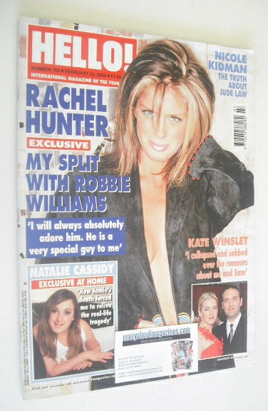 <!--2003-02-25-->Hello! magazine - Rachel Hunter cover (25 February 2003 -