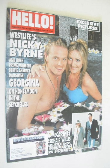 <!--2003-09-09-->Hello! magazine - Nicky Byrne and Georgina Byrne cover (9