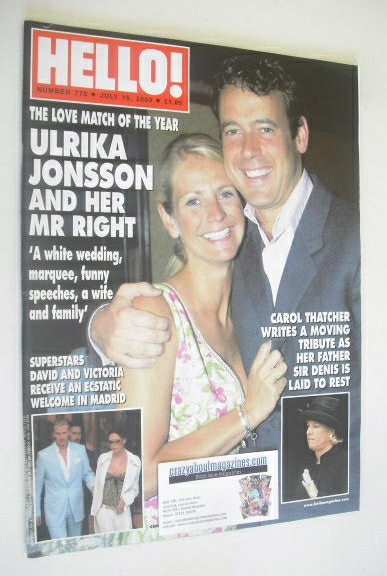 <!--2003-07-15-->Hello! magazine - Ulrika Jonsson and Lance Gerrard-Wright