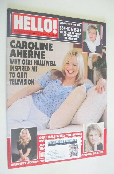 <!--2001-04-17-->Hello! magazine - Caroline Aherne cover (17 April 2001 - I