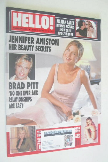 <!--2001-05-01-->Hello! magazine - Jennifer Aniston cover (1 May 2001 - Iss