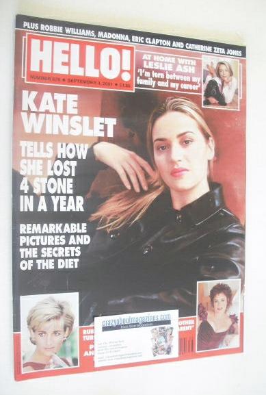<!--2001-09-04-->Hello! magazine - Kate Winslet cover (4 September 2001 - I